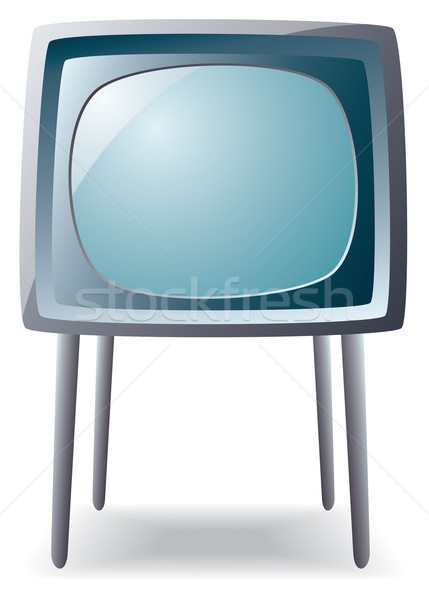 Retro vector lange benen televisie ontwerp Stockfoto © freesoulproduction