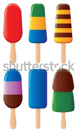 vector colorful  popsicles Stock photo © freesoulproduction