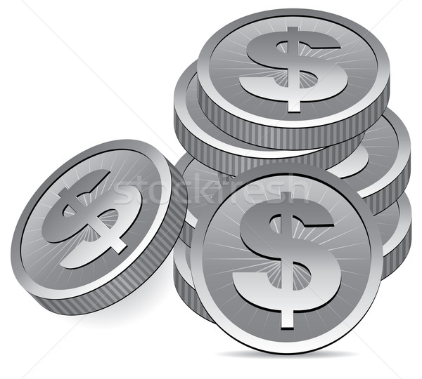 vector silver coins Stock photo © freesoulproduction