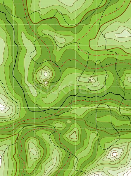 Foto stock: Resumen · verde · mapa · vector · no · fondo