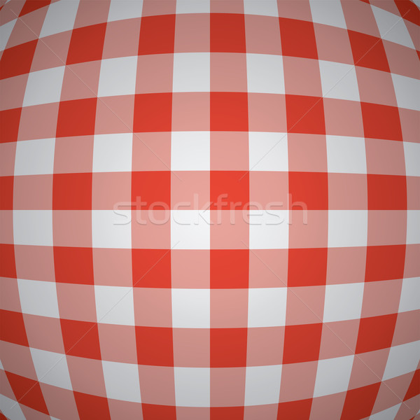 Vektor 3D rot Picknick Tischdecke Textur Stock foto © freesoulproduction