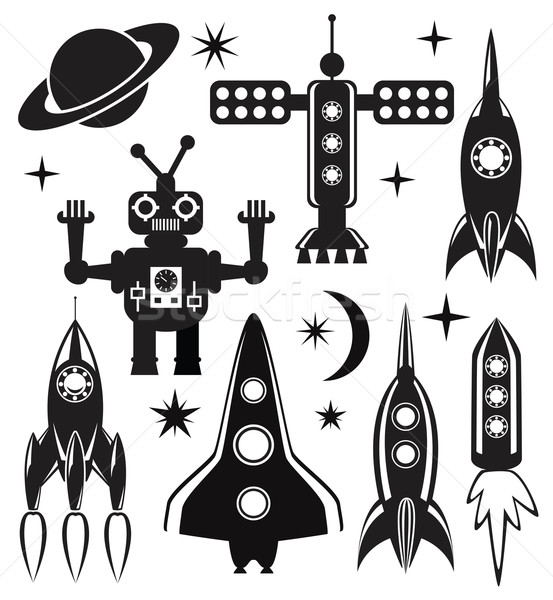 vector stylized space symbols  Stock photo © freesoulproduction