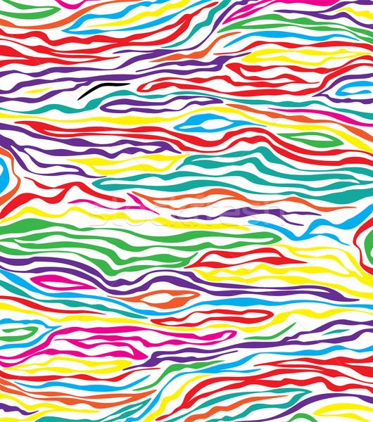 Vektor absztrakt színes bőr textúra zebra Stock fotó © freesoulproduction