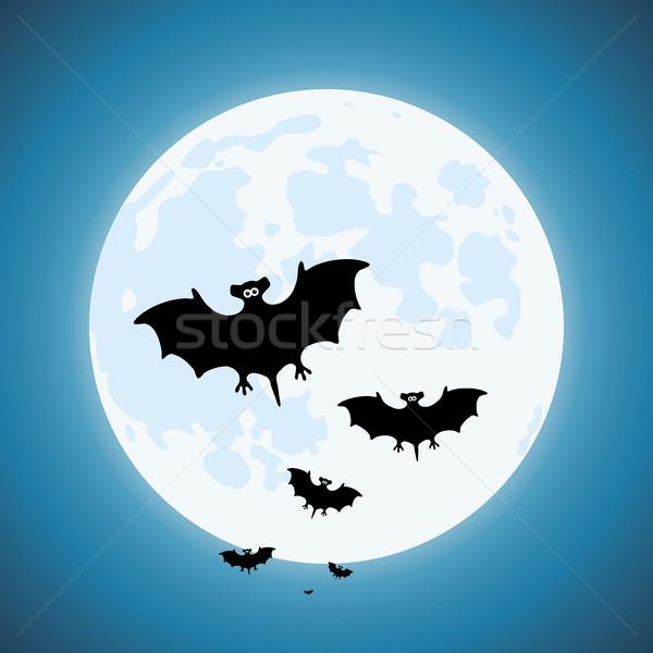 Wektora noc scary przyrody niebo niebieski Zdjęcia stock © freesoulproduction