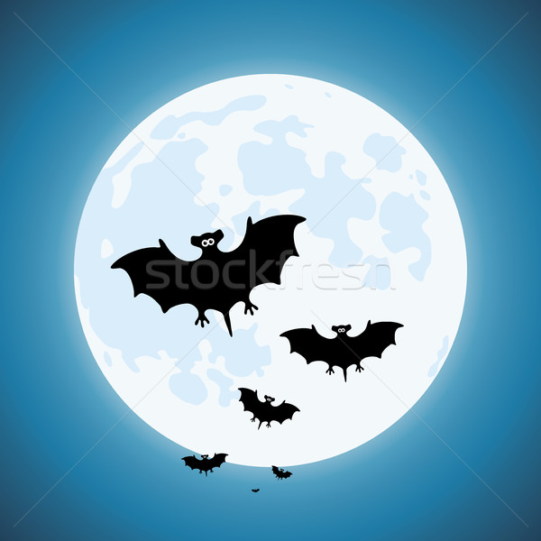 Vettore notte scary fauna selvatica cielo blu Foto d'archivio © freesoulproduction