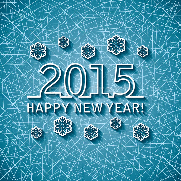 vector happy new year 2015 card Stock photo © freesoulproduction