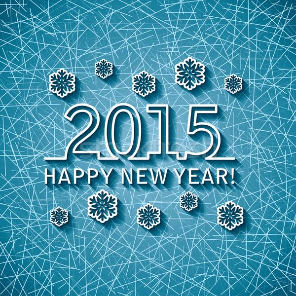 Vetor feliz ano novo 2015 cartão abstrato projeto Foto stock © freesoulproduction