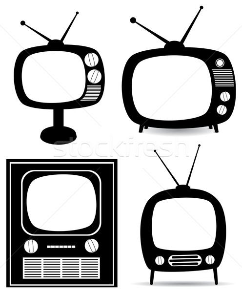 retro tv set Stock photo © freesoulproduction