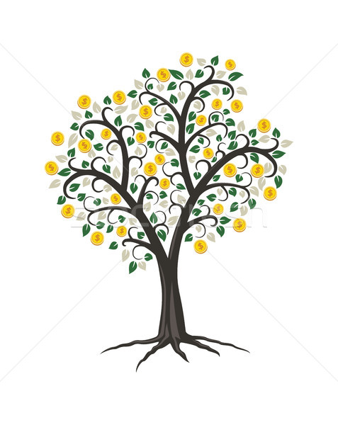 vector money tree with golden coins Stock photo © freesoulproduction