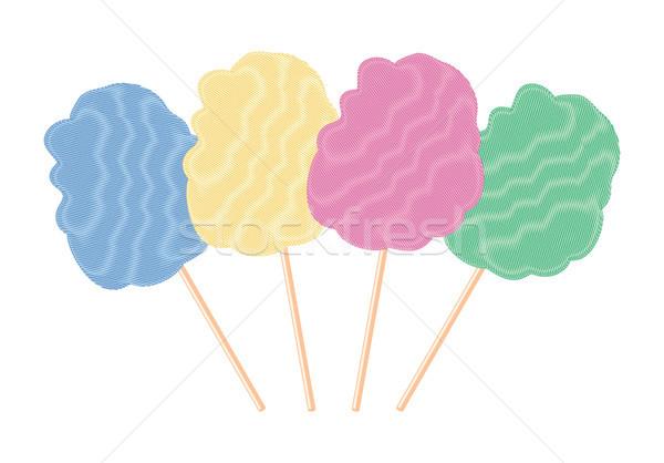 вектора красочный конфеты хлопка набор изолированный Сток-фото © freesoulproduction