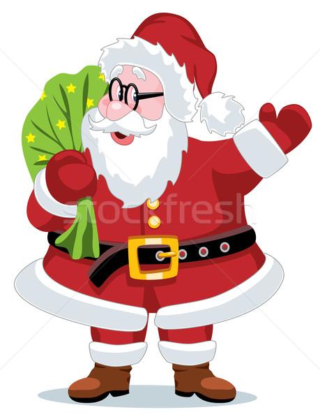 ストックフォト: ベクトル · サンタクロース · クリスマス · 実例 · 男