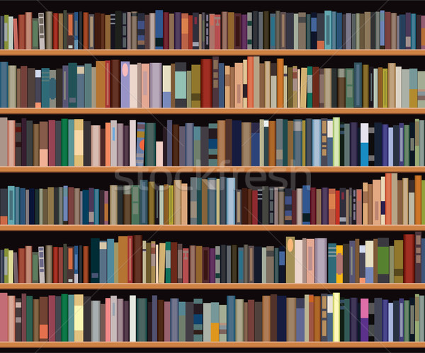 vector bookshelf Stock photo © freesoulproduction