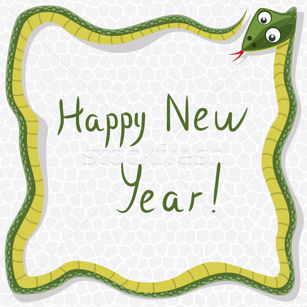 Vecteur nouvelle année serpent happy new year heureux design Photo stock © freesoulproduction