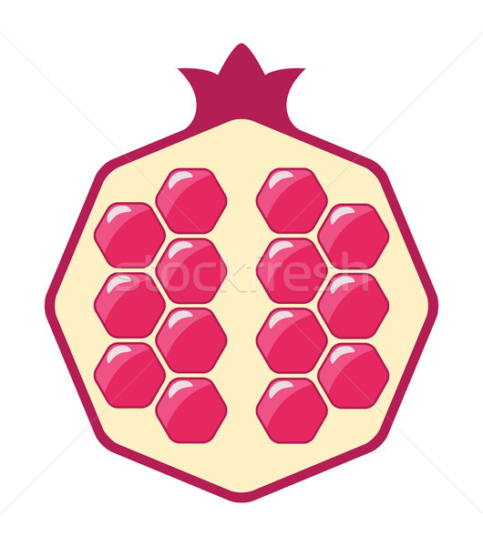 vector pomegranate cut icon Stock photo © freesoulproduction