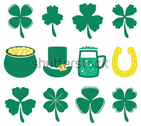 Wektora irlandzki Dzień Świętego Patryka Shamrock koniczyna Zdjęcia stock © freesoulproduction