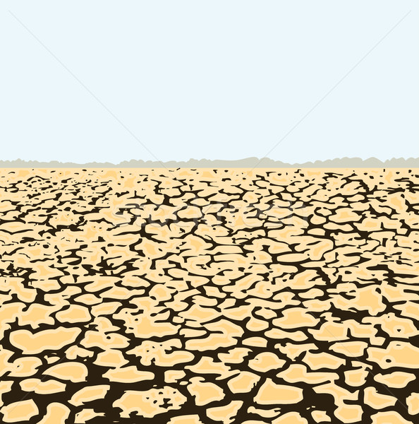vector dry cracked soil, desert landscape Stock photo © freesoulproduction