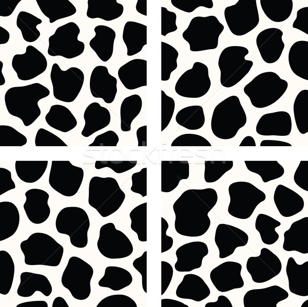 vector black and white  cow skin patterns Stock photo © freesoulproduction
