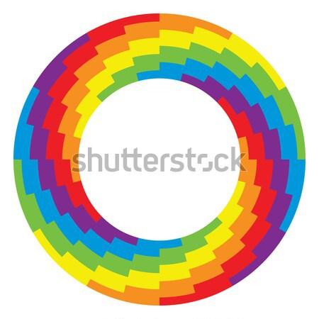 ベクトル ホイール サークル 虹色 ビジネス 抽象的な ストックフォト © freesoulproduction