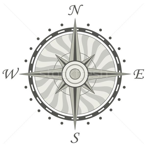 Vettore bussola terra segno bianco vela Foto d'archivio © freesoulproduction