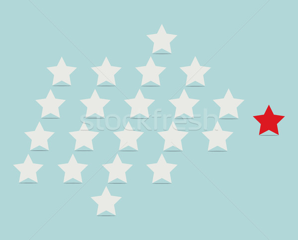 vector leadership concept with stars following their leader Stock photo © freesoulproduction
