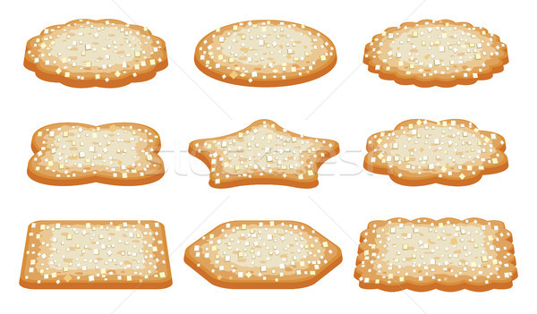 vector collection of sugar shortbread cookies Stock photo © freesoulproduction
