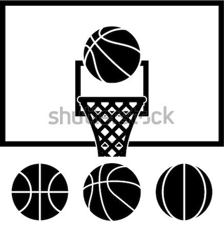 Vektor kosárlabda net szett golyók gyűjtemény Stock fotó © freesoulproduction