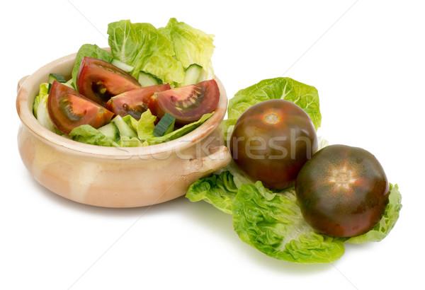 Noir tomates horizons légumes fond blanc brun Photo stock © Freila