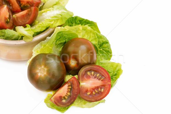 Noir tomates blanche laitue horizons légumes Photo stock © Freila