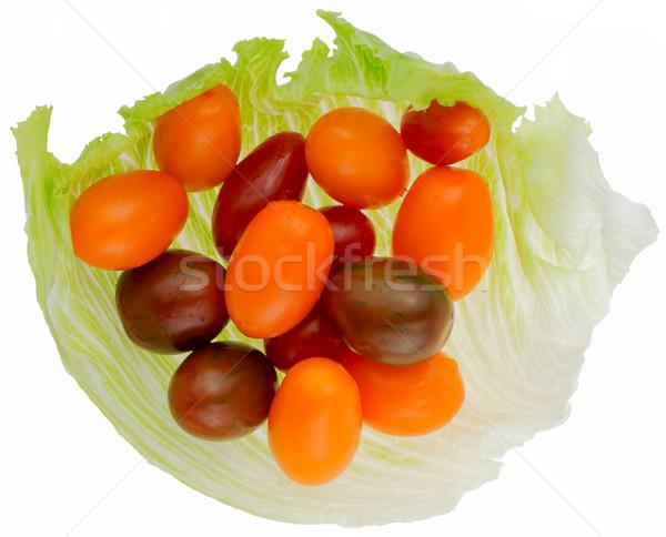 Photo stock: Tomate · cerise · différent · laitue · blanche · Retour