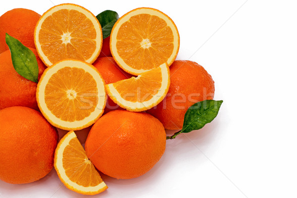 Photo stock: Orange · groupe · juteuse · oranges · trimestre