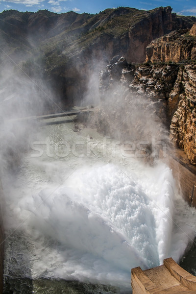 Eau lac pouvoir inondations Photo stock © Freila