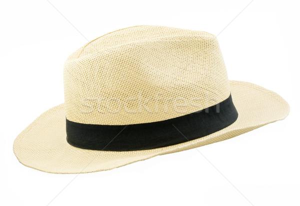 Panama stílus kalap izolált fekete Stock fotó © Freila