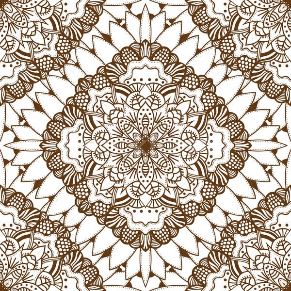 коричневый восточных вектора изолированный Сток-фото © frescomovie