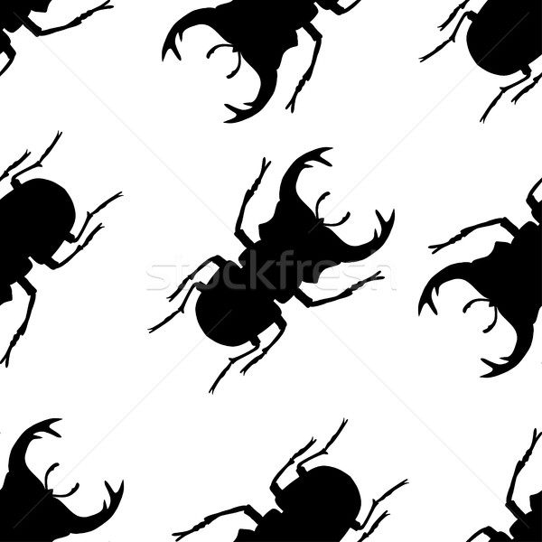 pattern with silhouette of bugs Stock photo © frescomovie