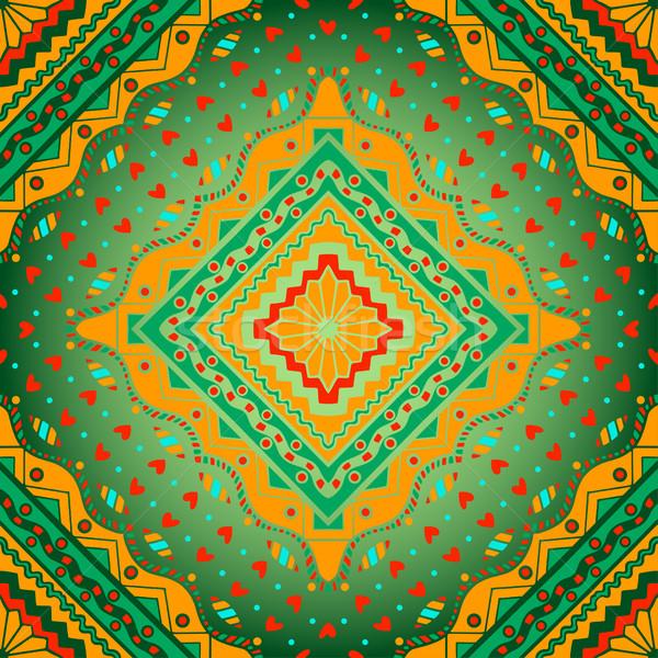 Oriental colorful ornament Stock photo © frescomovie