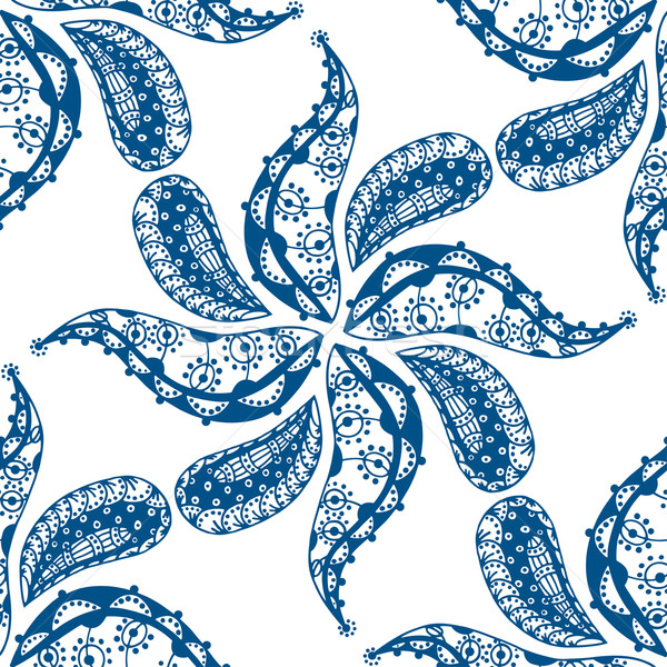 seamless blue pattern Stock photo © frescomovie