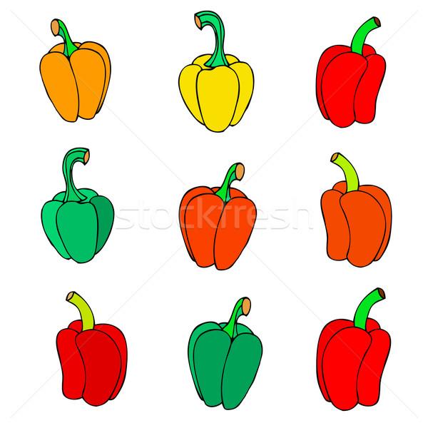 icon peppers Stock photo © frescomovie