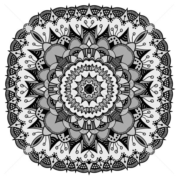 Mandala etnik dekoratif elemanları çiçek Stok fotoğraf © frescomovie