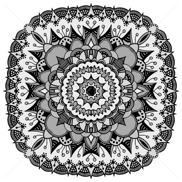 Mandala etnische decoratief communie bloem Stockfoto © frescomovie
