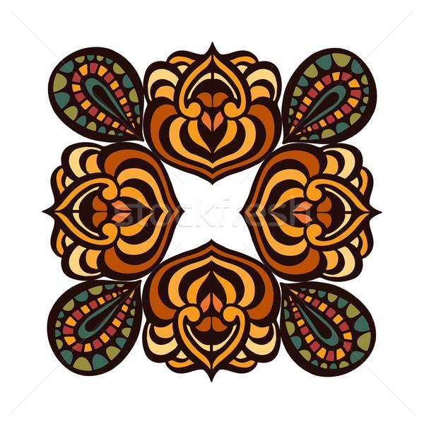 Mandala bağbozumu dekoratif elemanları çerçeve Stok fotoğraf © frescomovie