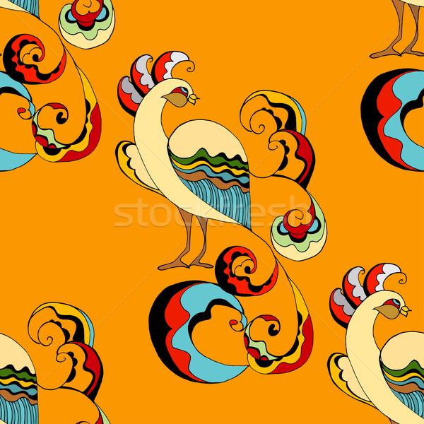 Belle fond beauté oiseau tissu Photo stock © frescomovie