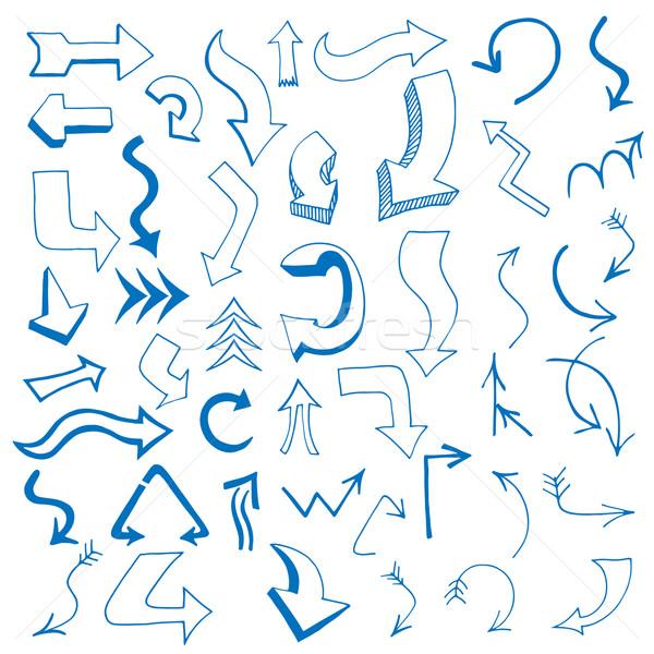 arrows set written Stock photo © frescomovie