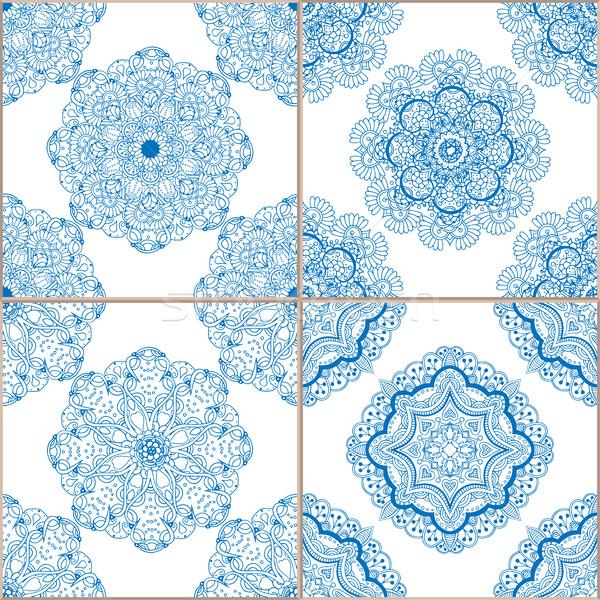 Géométrique tuiles Photo stock © frescomovie