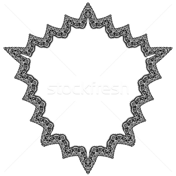 セット 幾何学的な フレーム 抽象的な デザイン 手描き ストックフォト © frescomovie