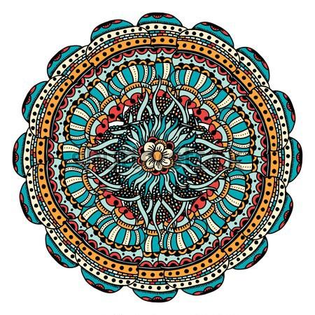 Renk kart mandala süs bağbozumu dekoratif Stok fotoğraf © frescomovie