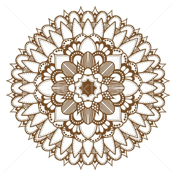 Absztrakt virágmintás dísz henna tetoválás mandala Stock fotó © frescomovie