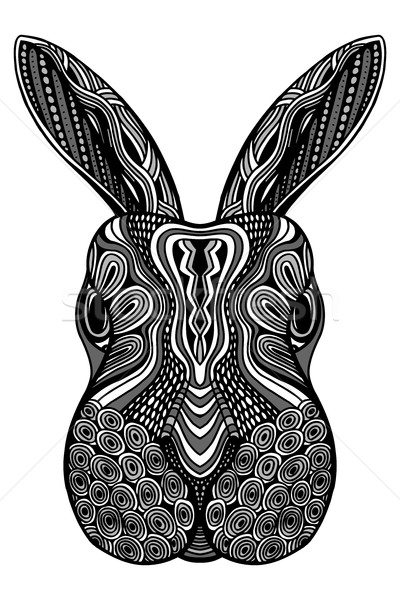 Rabbit head zentangle Stock photo © frescomovie