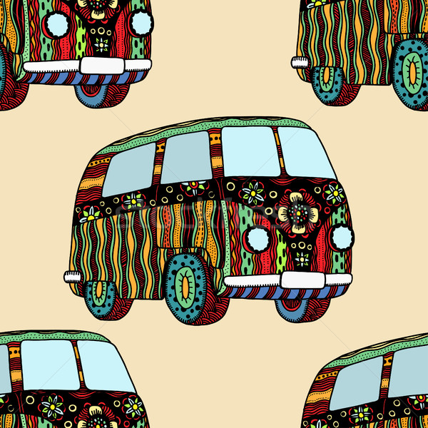 Seamless Pattern of Vintage car Stock photo © frescomovie