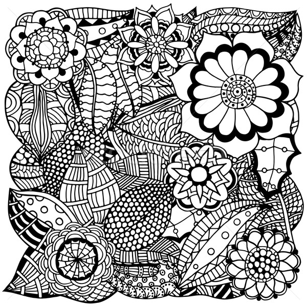 floral zentangle Stock photo © frescomovie