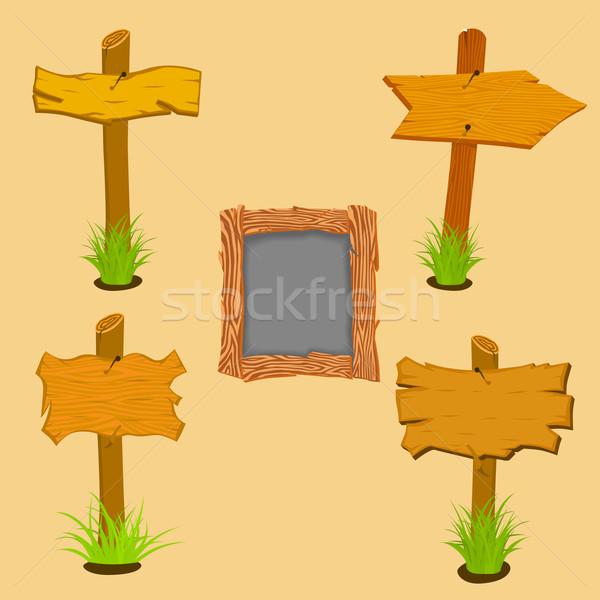 Wooden sign boards Stock photo © frescomovie